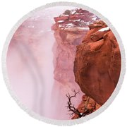Atop Canyonlands Round Beach Towel by Chad Dutson