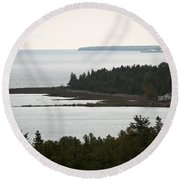 Atop The Lighthouse Round Beach Towel