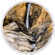 Attagar Falls In Western Ghats Round Beach Towel