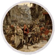 Atterdag Holding Visby To Ransom 1361 Round Beach Towel