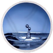 Attraction Water Droplets Round Beach Towel