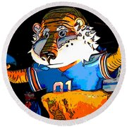 Auburn Tiger Round Beach Towel
