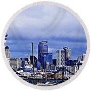 Auckland 4 Round Beach Towel