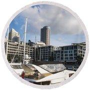 Auckland City View Round Beach Towel