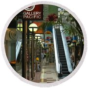 Auckland Shopping Mall Round Beach Towel