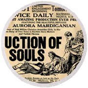 Auction Of Souls Round Beach Towel