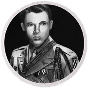 Audie Murphy Round Beach Towel