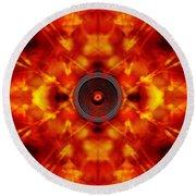 Audio Kaleidoscope Round Beach Towel