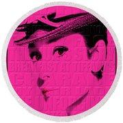 Audrey Hepburn 4 Round Beach Towel