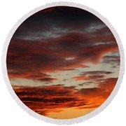Audubon Sunset Light Round Beach Towel