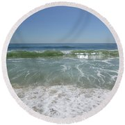 August Ocean Round Beach Towel