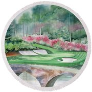 Augusta National 12th Hole Round Beach Towel