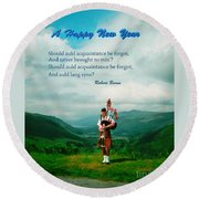Auld Lang Syne Round Beach Towel