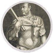 Aullus Vitellius Emperor Of Rome Round Beach Towel