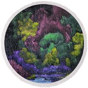 Aurora Reflection Round Beach Towel