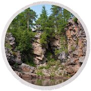 Ausable Chasm 1608 Round Beach Towel