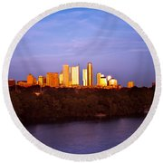 Austin At Last Light Round Beach Towel