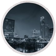 Austin Skyline Round Beach Towel
