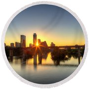 Austin Sunrise Round Beach Towel