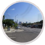 Austin Texas Congress Street View Round Beach Towel