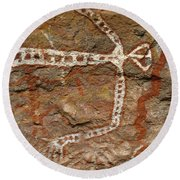 Indigenous Aboriginal Art Art 1 Round Beach Towel