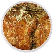 Australia Ancient Aboriginal Art 2 Round Beach Towel