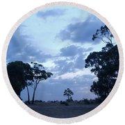 Australian Countryside Round Beach Towel