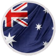 Australian Flag Round Beach Towel