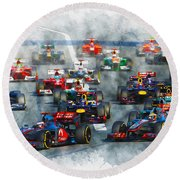 Australian Grand Prix F1 2012 Round Beach Towel