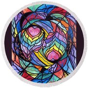 Authentic Relationship Round Beach Towel