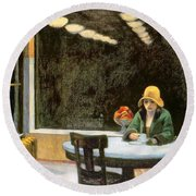 Automat Round Beach Towel