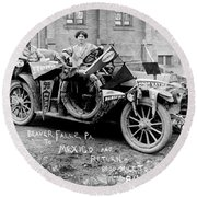Automobile Buick, C1915 Round Beach Towel