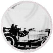 Automobile Racing, 1905 Round Beach Towel