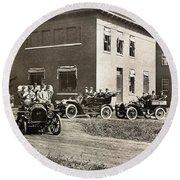 Automobiles, 1906 Round Beach Towel