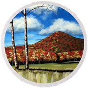 Autum Hill Round Beach Towel