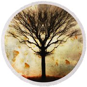 Autum Wind Round Beach Towel