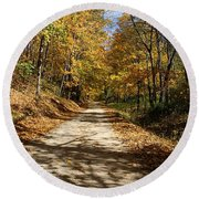 Autumn Afternoons Round Beach Towel