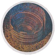 Autumn Amphitheatre Round Beach Towel