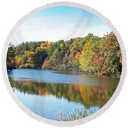 Autumn At Durand Round Beach Towel