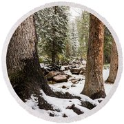 Autumn At Gore Creek 5 - Vail Colorado Round Beach Towel by Brian Harig
