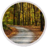 Autumn Beauty Round Beach Towel