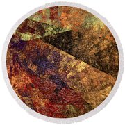 Autumn Bend Round Beach Towel