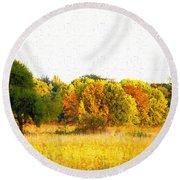 Autumn Canvas Round Beach Towel