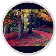 Autumn Carpet In The Enchanted Wood Round Beach Towel
