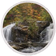 Autumn Cascades Round Beach Towel