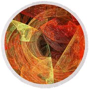 Autumn Chaos Round Beach Towel