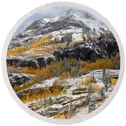 Autumn Clearning Round Beach Towel by Darren  White