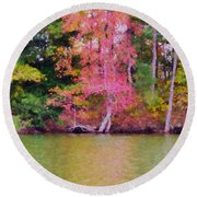 Autumn Color In Norfolk Botanical Garden 1 Round Beach Towel