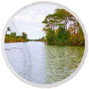 Autumn Color In Norfolk Botanical Garden  2 Round Beach Towel