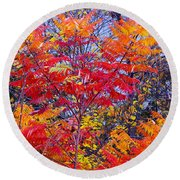 Autumn Colors - 113 Round Beach Towel